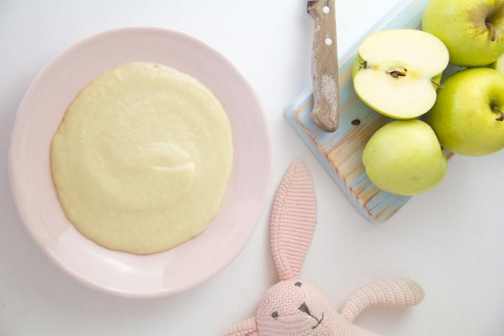 Papinha de maçã e millet