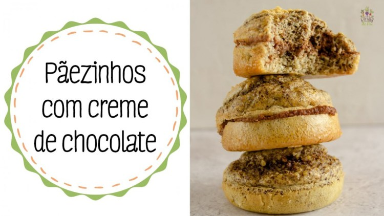 Pão saudável com creme de chocolate