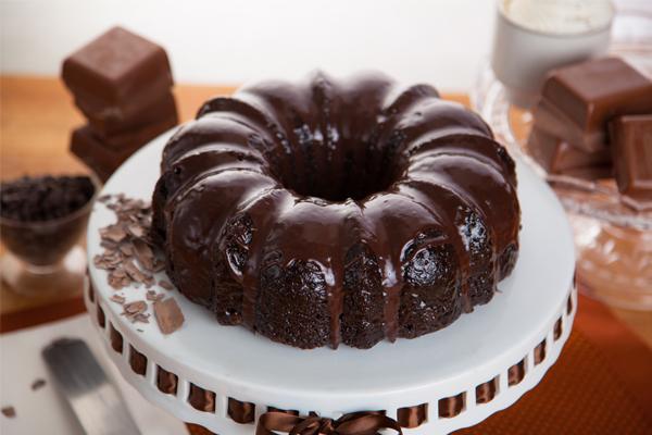 Bolo de chocolate saudável para toda a família