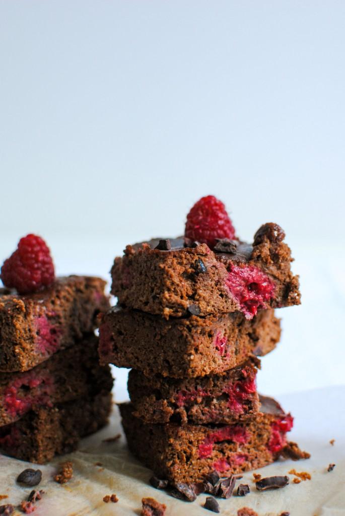 brownie com framboesas | raspberry brownies