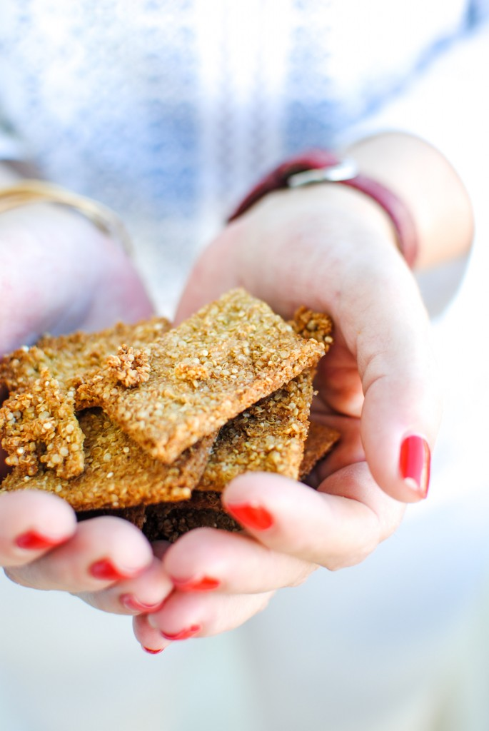 crackers proteicas de quinoa   quinoa protein crackers