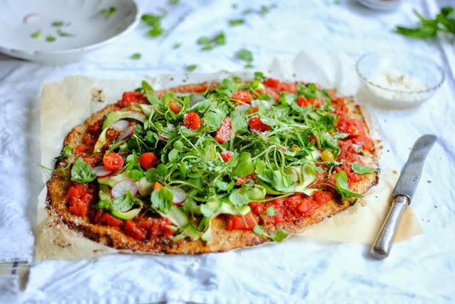 Base de couve-flôr para Pizzas!