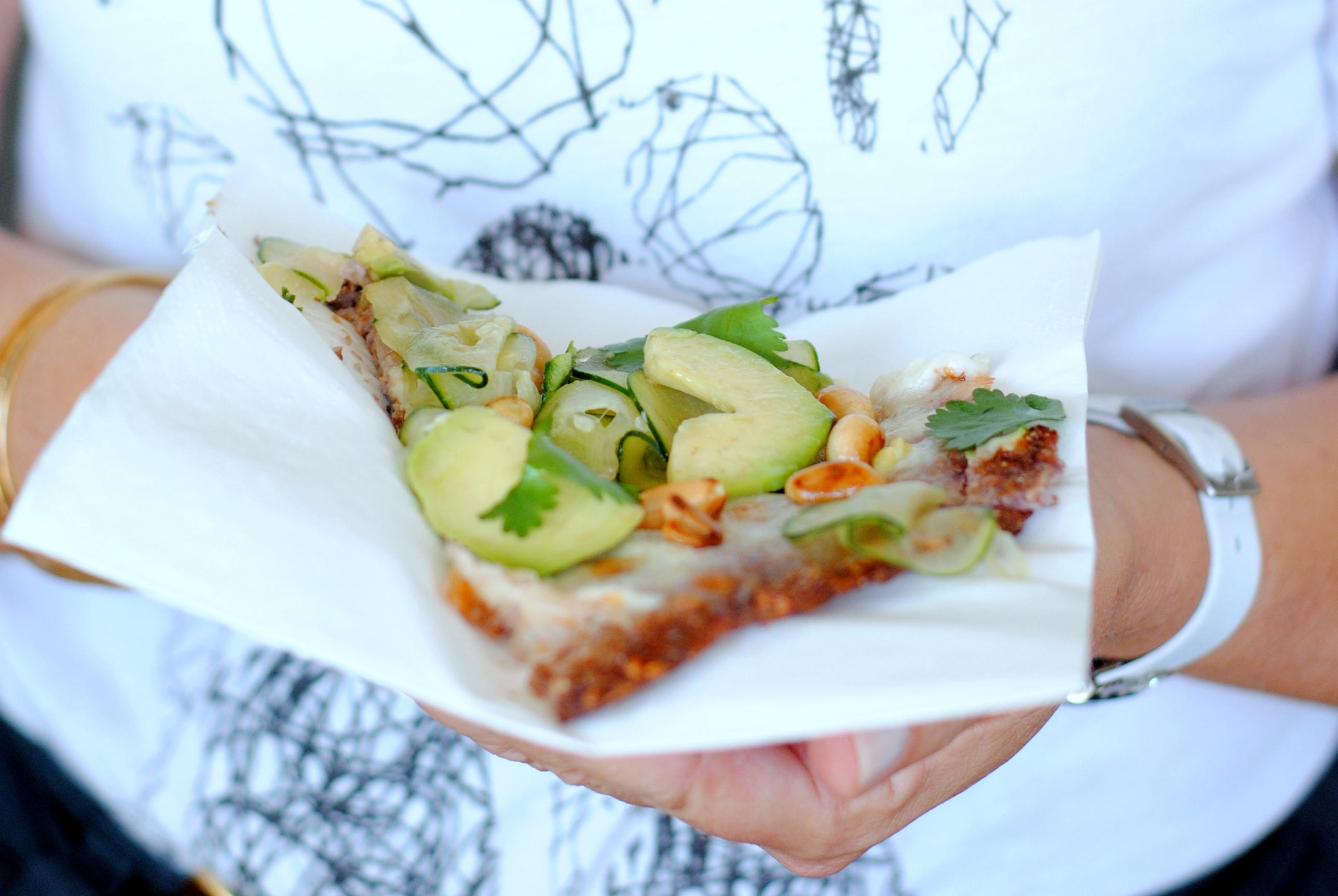 Pizza fresca e saudável