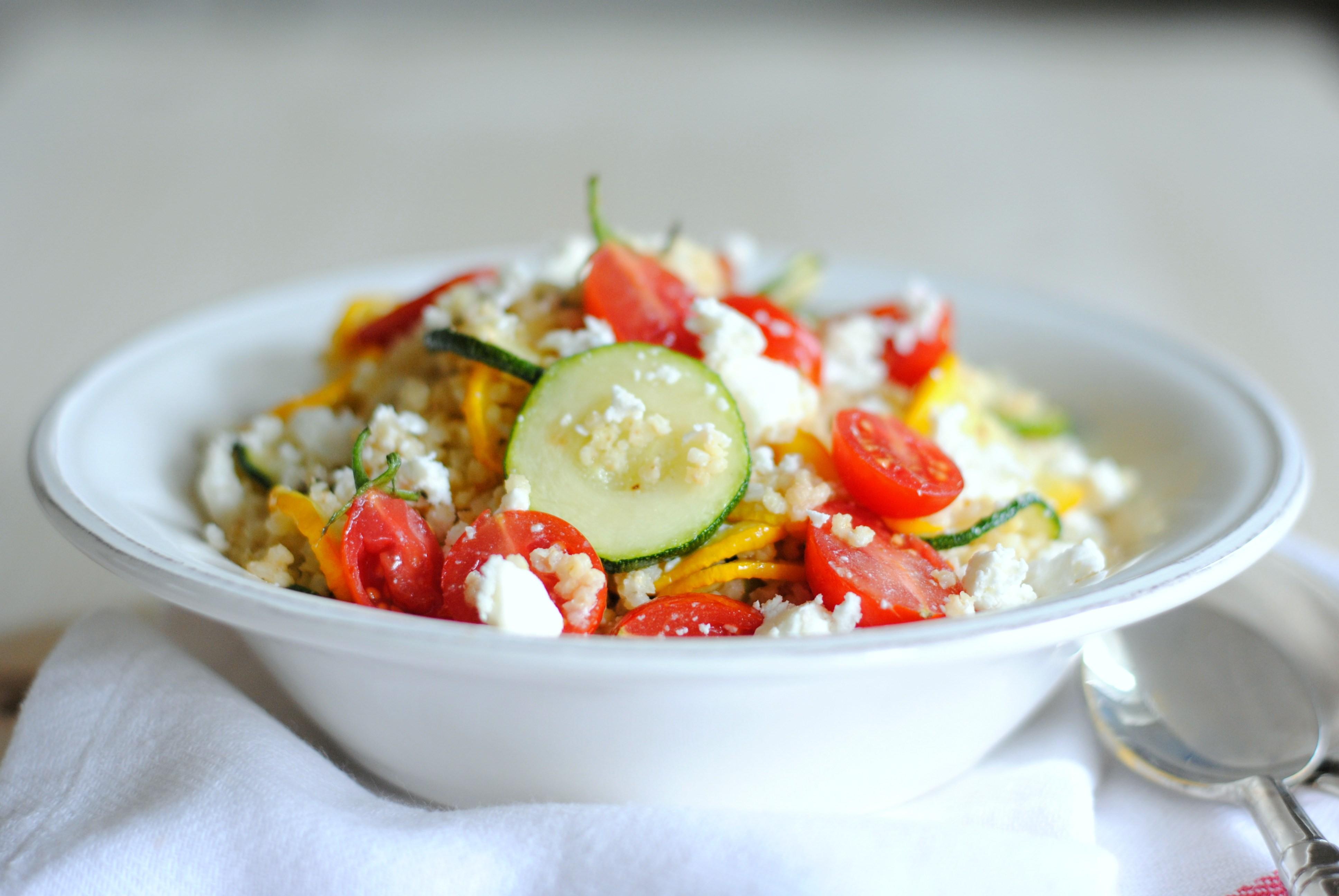 Salada morna para o fim do Verão