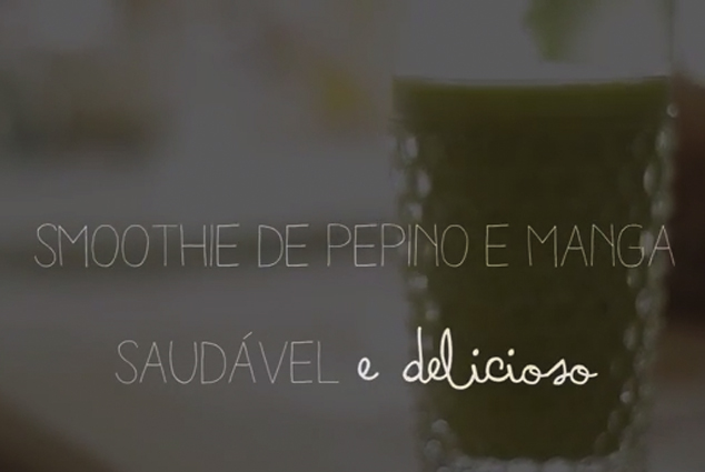Smoothie verde e o primeiro vídeo