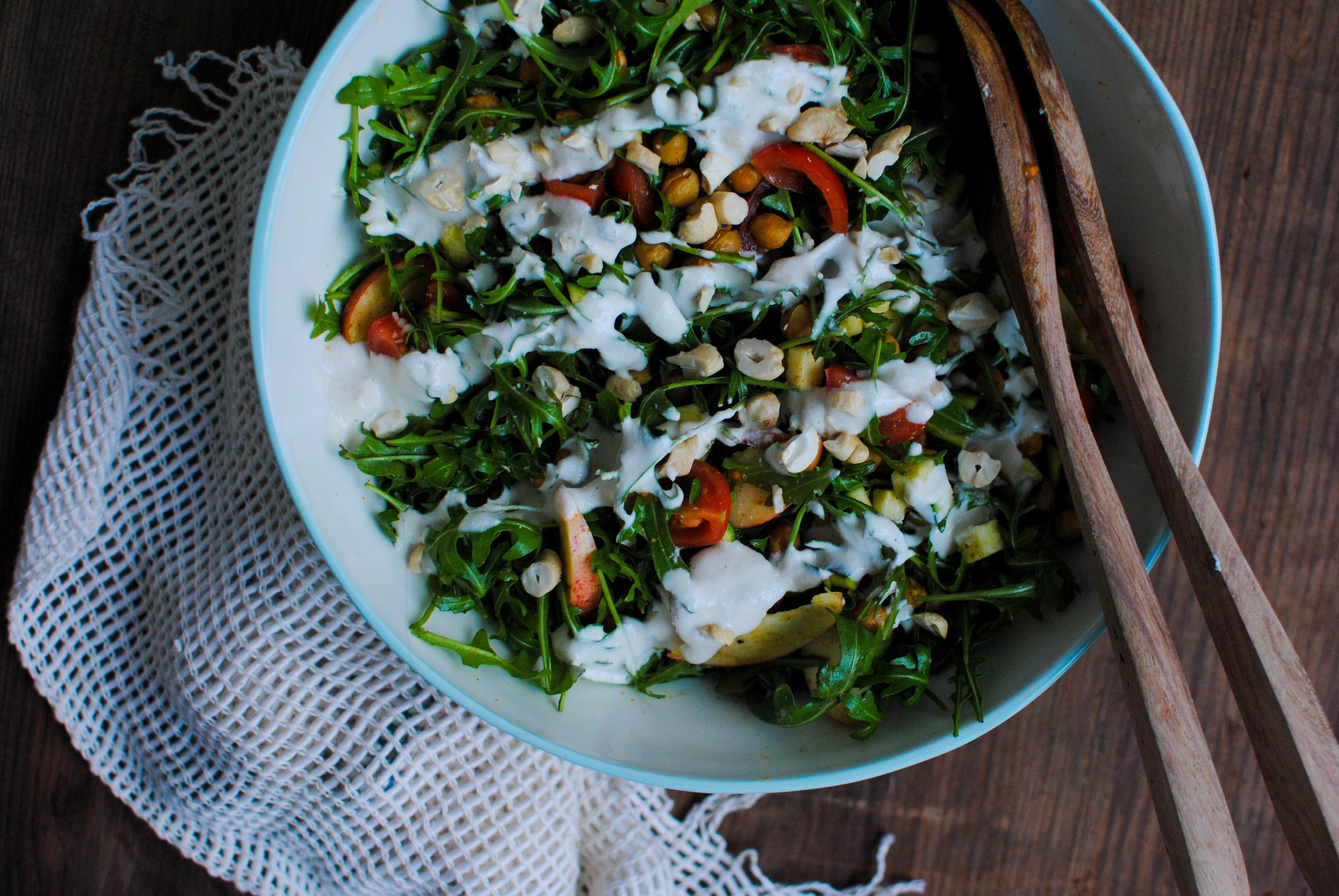 Salada morna de Grão Crocante